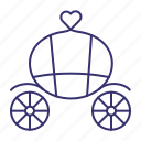 brougham, carriage, marriage, vintage, wagon, wain, wedding icon