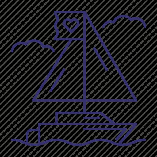 boat, cruise, sail, sailling, ship, travel, yacht icon