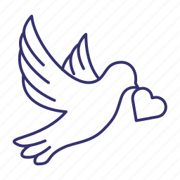 bird, dove, fly, flying, love, peace, pigeon icon