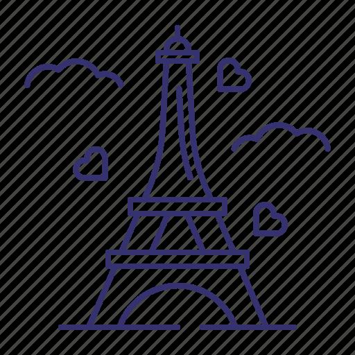 eiffel, france, landmark, paris, tourism, tower, travel icon