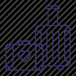 baggage, honeymoon, luggage, travel, vacation icon