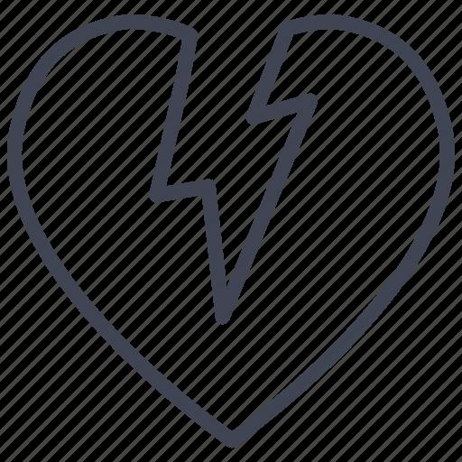 Broken, heart, love, romantic, valentine, valentines icon - Download on Iconfinder