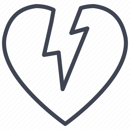 broken, heart, love, romantic, valentine, valentines icon