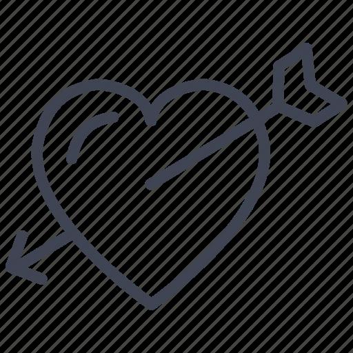 cupid, heart, love, romantic, valentine icon