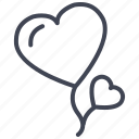 balloons, heart, love, romantic, valentine, valentines icon