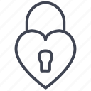 heart, lock, love, romantic, security, valentine icon