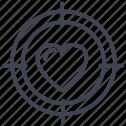 heart, hunting, love, romance, romantic, valentine icon
