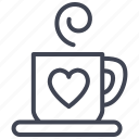 drink, heart, hot, love, romantic, valentine icon