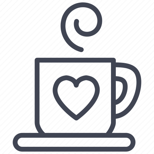 drink, heart, hot, love, romantic, valentine icon