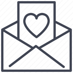 heart, letter, love, romantic, valentine, valentines icon