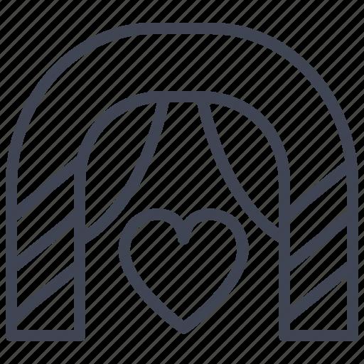 alter, heart, love, marriage, romantic, valentine icon