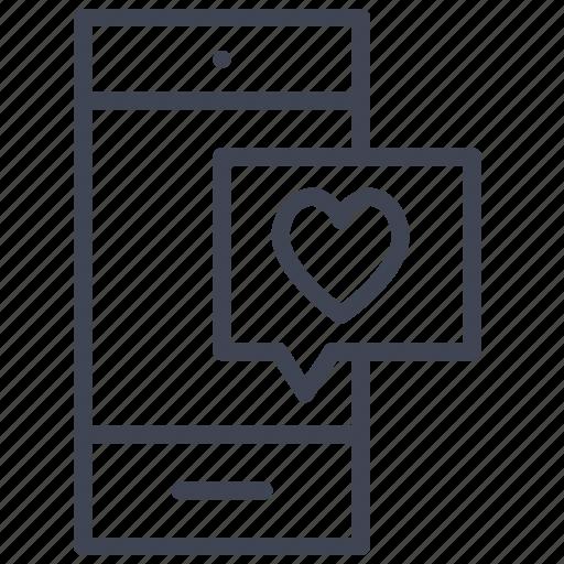 chat, love, message, romantic, talk, valentine icon