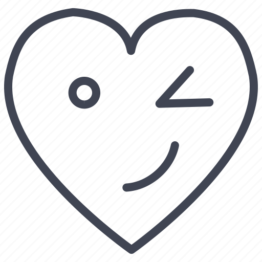 Heart, winking, love, romantic, valentine, valentines icon - Download on Iconfinder
