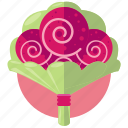 bouquette, flowers, love, marriage, roses