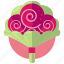 bouquette, flowers, love, marriage, roses icon