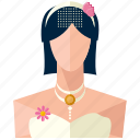 bride, fashion, female, love, marriage, woman icon