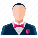 formal, groom, love, man, marriage, suit icon