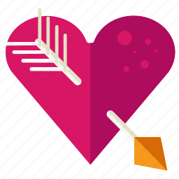 arrow, favourite, heart, love, marriage, valentine icon
