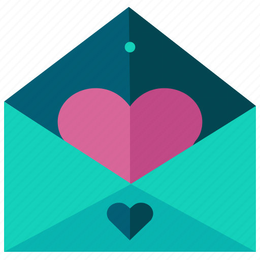 envelope, heart, love, marriage, message icon