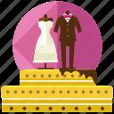 cake, dress, food, love, marriage, suit, wedding