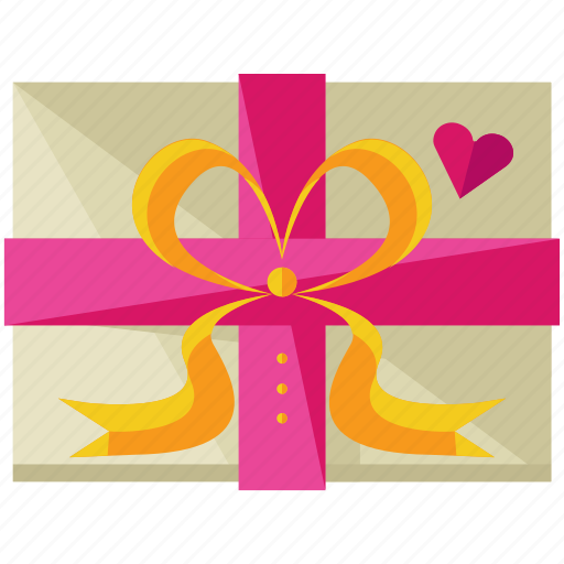 box, gift, love, marriage, package, present, wrapped icon