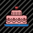 cake, love, valentine, wedding icon