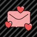 love, mail, message, valentine icon