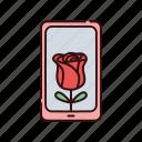 flower, love, smartphone, valentine