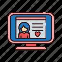 account, computer, love, profile