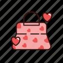 bag, love, shopping, valentine