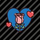 bloom, flower, love, valentine