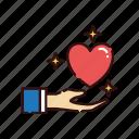gift, heart, love, romance