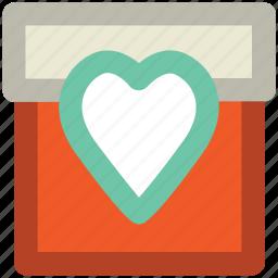 celebration, congratulation, festive, gift, heart sign, present, valentine day icon