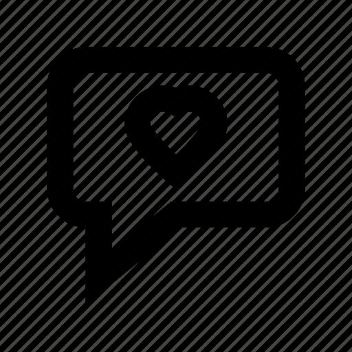 heart, love chat, love message, romantic chatting, speech bubble icon