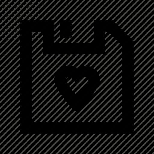 floppy, floppy disk, floppy drive, heart floppy, heart sign icon