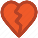 breakup, broken heart, divorce, flirting, heartbreak, hurt, separation icon