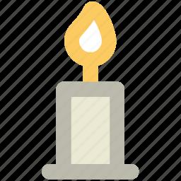 burning candle, candle, decorations, glow, romantic, spirituality icon