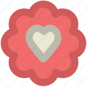 cookie, dessert, event, food, heart sign, occasion, sweet icon