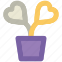 heart flowers, love, love concept, passion, plant, romantic, valentine day icon