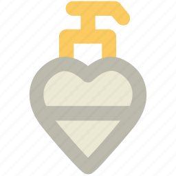 aroma, fragrance, heart shaped, love perfume, perfume, scent, valentine bottle icon