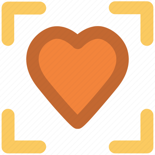 affection, feelings, focal point, heart focus, in love, love, romance icon
