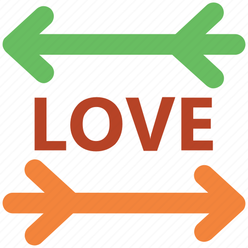 desire, directional arrows, happiness, love, love word, passion, romance icon
