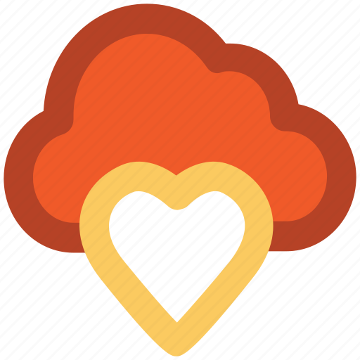 cloud and heart, cloud computing, cloud heart, icloud, love sign, online passion, relationship icon