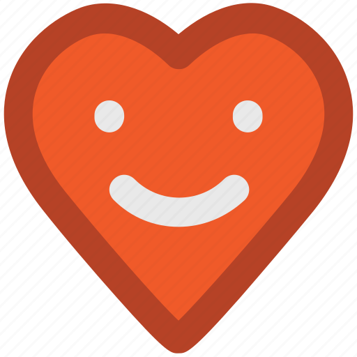 cartoon, happy heart, heart face, heart smile, heart smiley, laugh, love chat icon