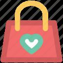 fashion, fashion accessory, glamour, heart sign, ladies handbag, style