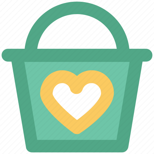 basket, happiness, heart sign, love, love inspirations, passion, shopping icon