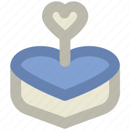 anniversary, cake, candle, heart shaped, love, valentine day, wedding icon