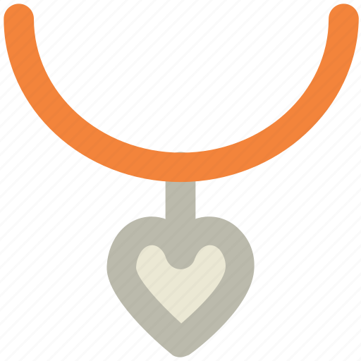 beauty, fashion accessory, girlish, glamour, heart shape, jewelry, necklace icon