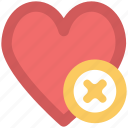delete sign, infographic element, like, love, love heart, love sign, passion icon