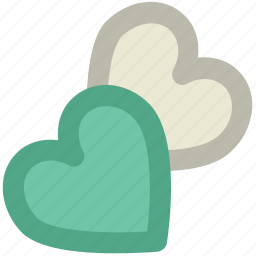 affection, couple, love, love hearts, lovers, together, two hearts icon